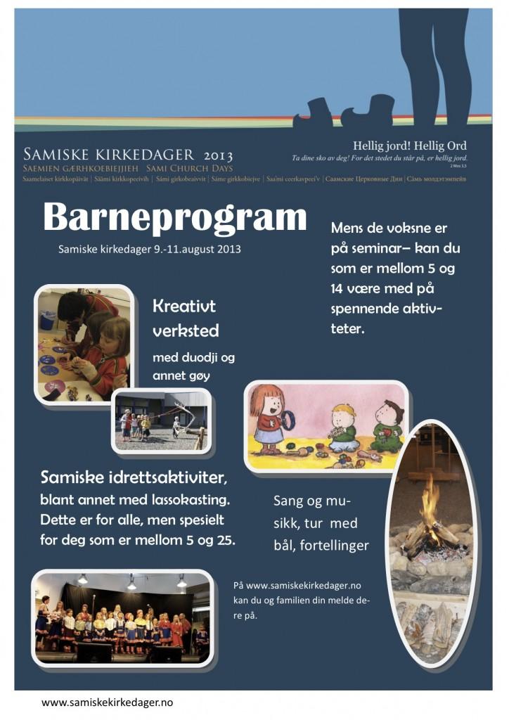 Plakat barneprogram