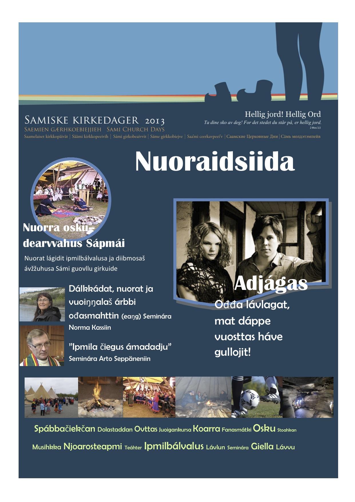 Plakat ungdomssiida samisk
